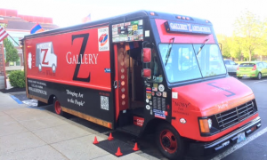 Moby at Gallery Z's ArtMobile