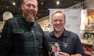 Sean Spicer Gives Briefing at Barrington Books